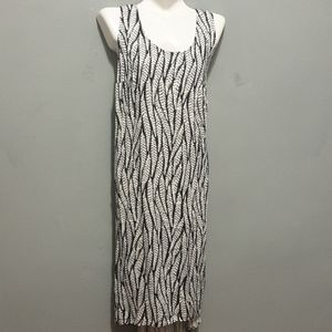 Ava and viv black and white leaf maxi dress
